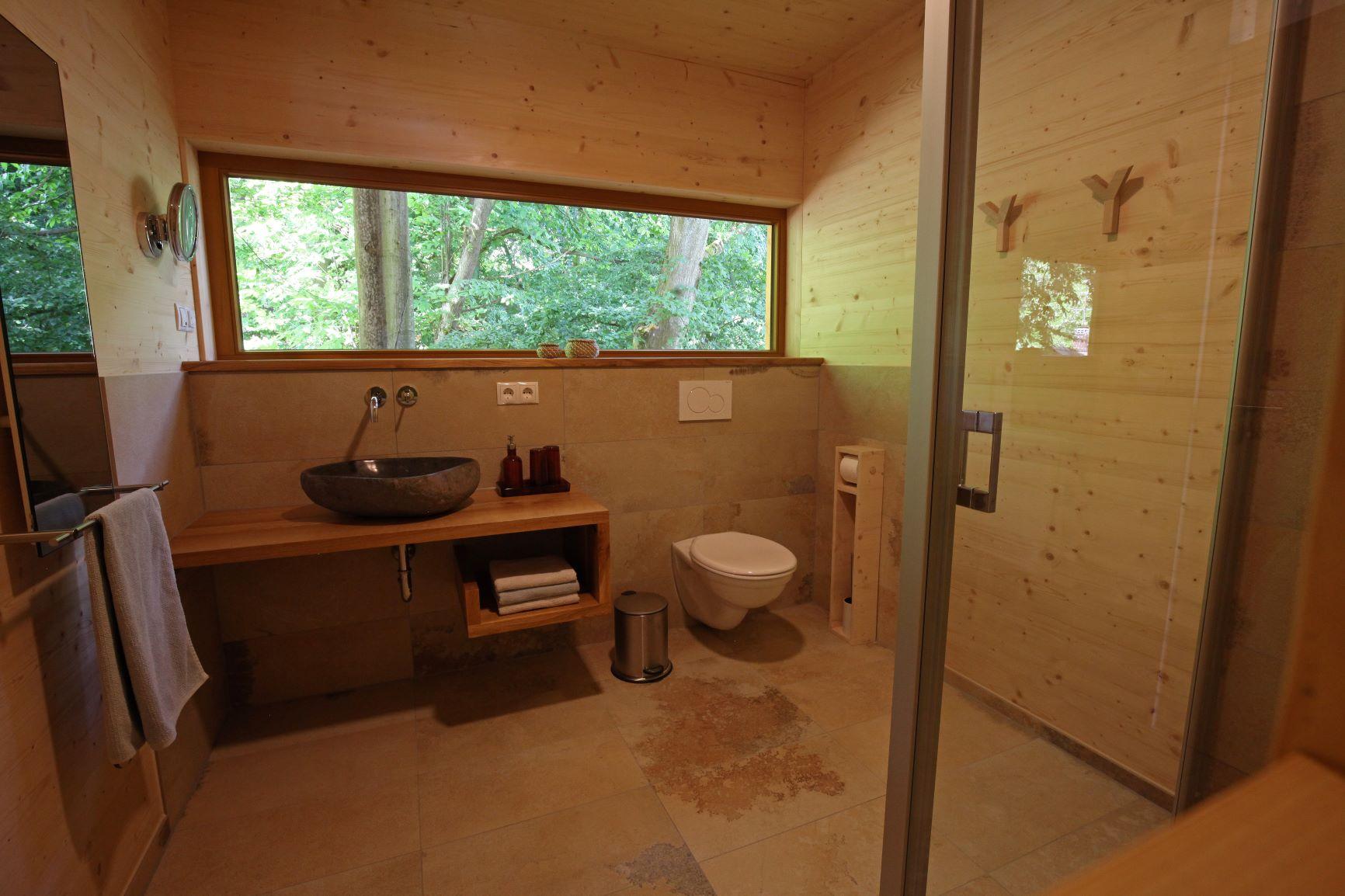 Ferienwohnung mit Designbad